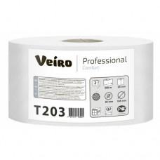 Туалетная бумага в средних рулонах Veiro Professional Comfort T203