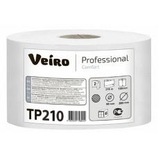 Туалетная бумага в средних рулонах с центральной вытяжкой Veiro Professional Comfort TP210