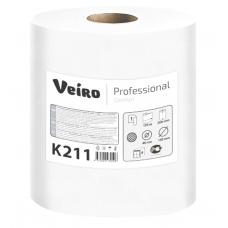 Бумажные полотенца в рулонах Veiro Professional Comfort белые однослойные 6 рулонов по 120 метров K211