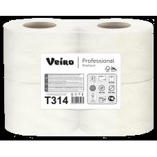 """Туалетная бумага """"Veiro Professional Premium"""" арт. T314 белая 2 сл. 160л. 4рул."""
