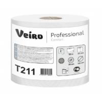 Туалетная бумага в средних рулонах с центральной вытяжкой Veiro Professional Comfort T211